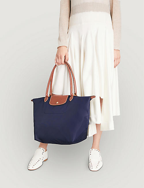 fa76e426bc LONGCHAMP Le Pliage large shopper in navy