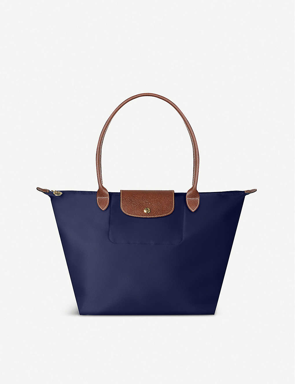 fb8a4b8bb17bf LONGCHAMP - Le Pliage large shopper in navy