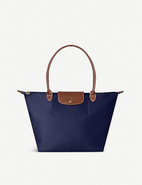 2c05c2591c7f LONGCHAMP Le Pliage large shopper in navy