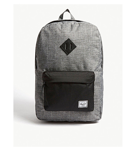 edca50d9c4e HERSCHEL SUPPLY CO Heritage canvas backpack (Raven+crosshatch black