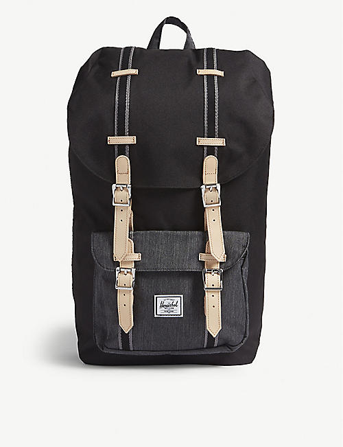 0768723a87 HERSCHEL SUPPLY CO Little America buckled canvas backpack