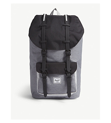 541e4d6b8a917 HERSCHEL SUPPLY CO Little america canvas backpack (Mid+grey blk lt+