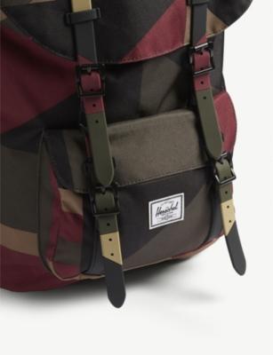 e9c6d5dc8e5 Shop Herschel Supply Co Little America Backpack In Winds Wine Front Geo