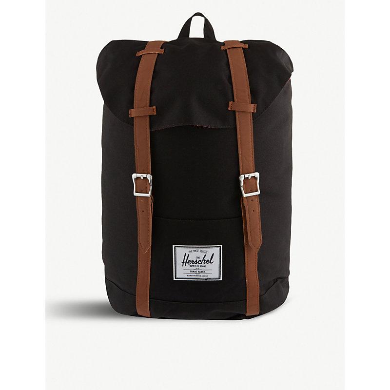 HERSCHEL SUPPLY CO. | Herschel Supply Co Retreat Backpack, Women'S, Black/Tan Pu | Goxip