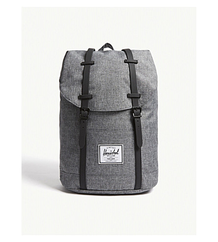 408e8f1278d HERSCHEL SUPPLY CO Retreat Raven crosshatch backpack (Raven+crosshatch blk