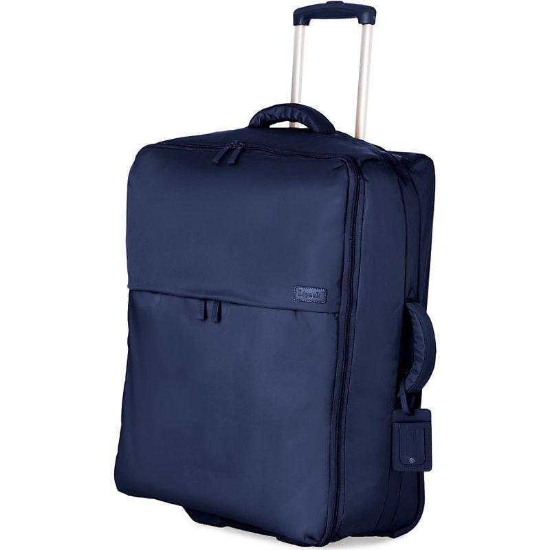 LIPAULT | Lipault Foldable Two-Wheel Trolley Suitcase 75cm, Navy | Goxip