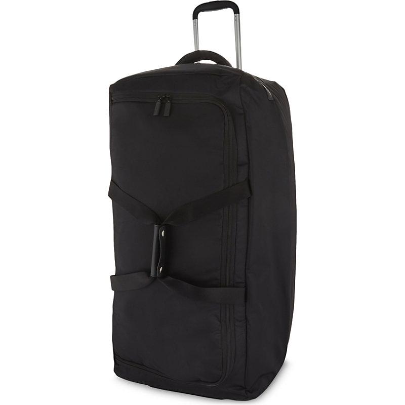 LIPAULT | Lipault Foldable Wheeled Duffel Bag 78cm, Black | Goxip