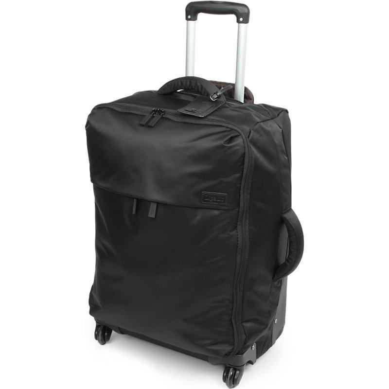 LIPAULT | Lipault Four-Wheel Trolley Suitcase 65cm, Black | Goxip