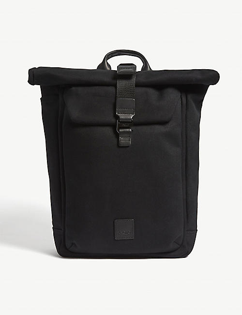 KNOMO Fulham Novello roll-top canvas backpack