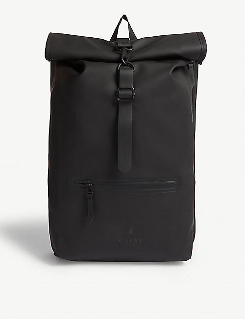 RAINS: Rolltop water-resistant backpack