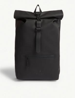 691b44e7ed7 RAINS - Rolltop water-resistant backpack | Selfridges.com