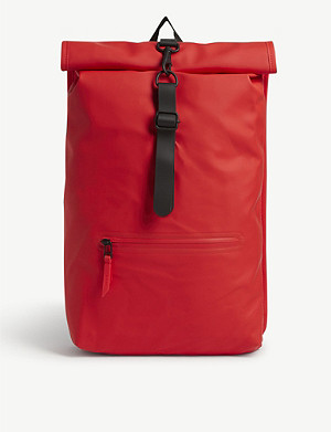 RAINS Rolltop water-resistant backpack