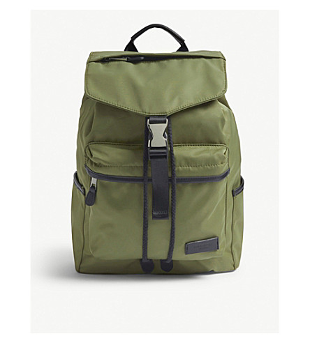 CHARLIE FEIST Kai nylon and vegan leather backpack (Olive b1952a2e2f831