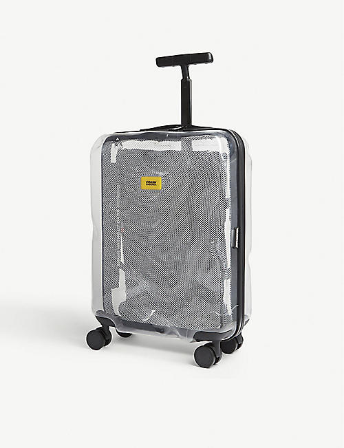 CRASH BAGGAGE Share transparent cabin suitcase 55cm