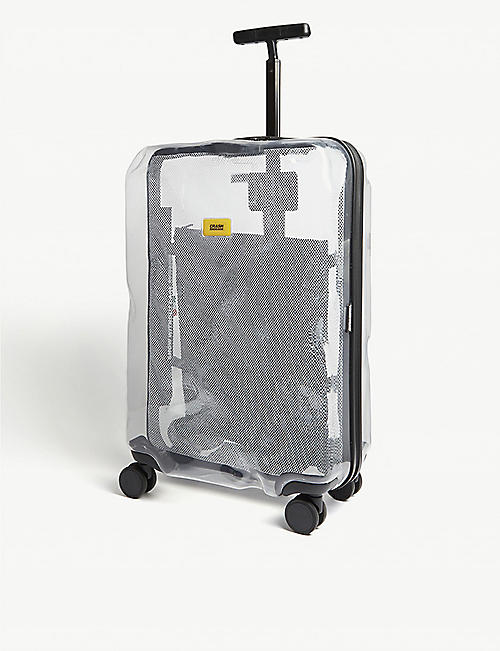 CRASH BAGGAGE: Share transparent medium suitcase 68cm