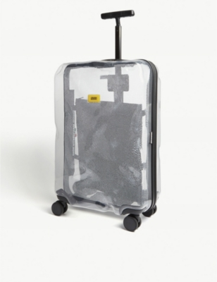 CRASH BAGGAGE Share transparent medium suitcase 68cm