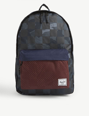 HERSCHEL SUPPLY CO Classic check and camouflage-print backpack