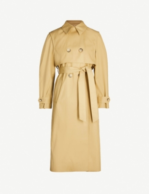 LES COYOTES DE PARIS Celeste double-breasted cotton trench coat