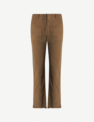 NILI LOTAN Jenna mid-rise stretch-cotton tapered trousers