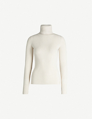 NILI LOTAN Myla turtleneck ribbed cashmere jumper