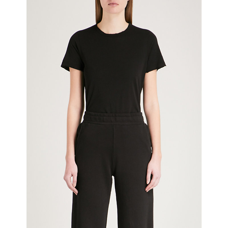 Classic Cotton-Jersey T-Shirt in Black