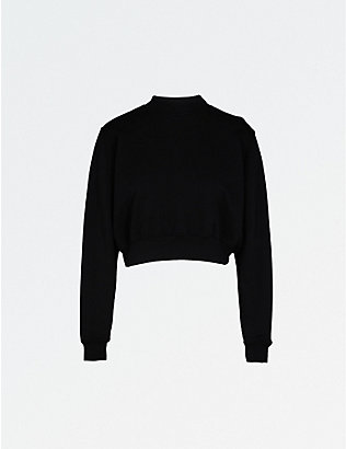 COTTON CITIZEN: Milan cropped cotton-jersey sweatshirt