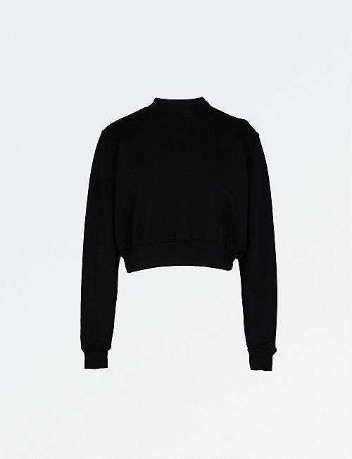 COTTON CITIZEN Milan cropped cotton-jersey sweatshirt