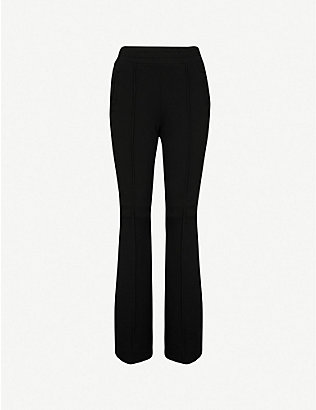 COTTON CITIZEN: The Milan flared high-rise cotton-jersey jogging bottoms