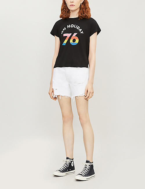 WILDFOX On Holiday No9 cotton T-shirt