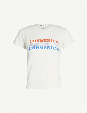 WILDFOX Uhhmerica No9 cotton T-shirt