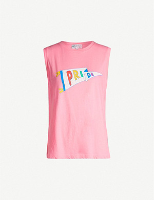 WILDFOX Pride Flag Vintage sleeveless cotton vest