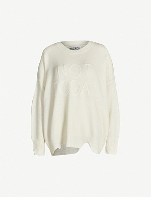 WILDFOX Not Today knitted jumper