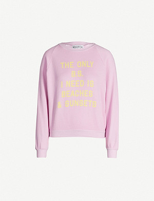 WILDFOX Beaches and Sunsets cotton-blend sweatshirt