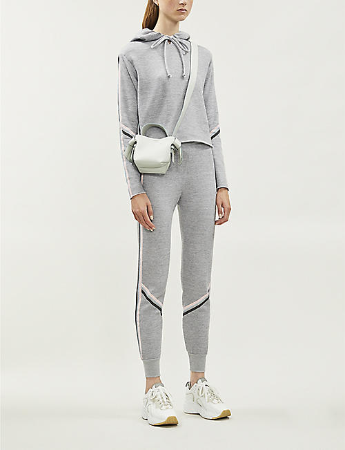 WILDFOX Spectral contrast-trim cotton-blend jogging bottoms