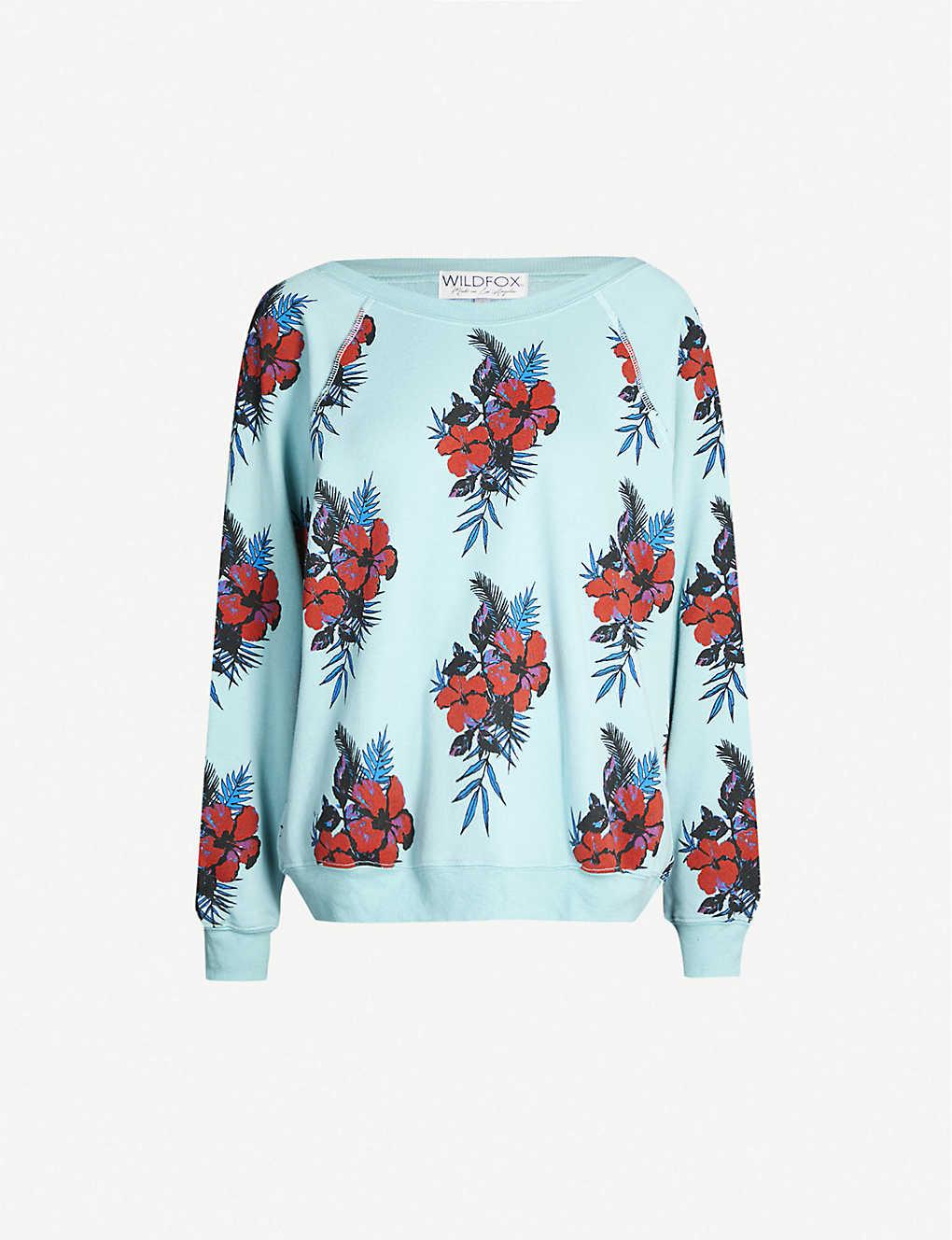 Hibiscus Dreams Sommers fleece sweatshirt