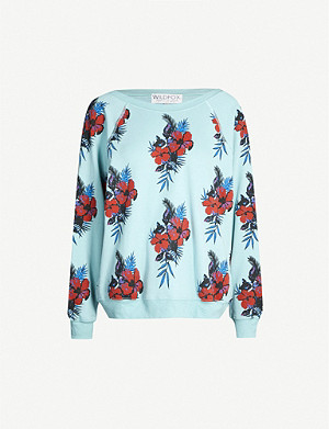 WILDFOX Hibiscus Dreams Sommers fleece sweatshirt
