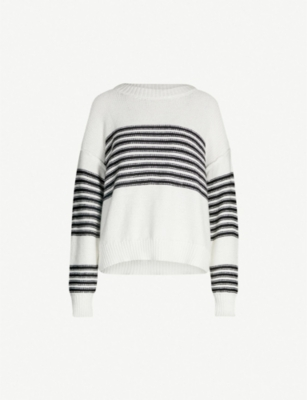 WILDFOX Knox striped cotton-knit jumper