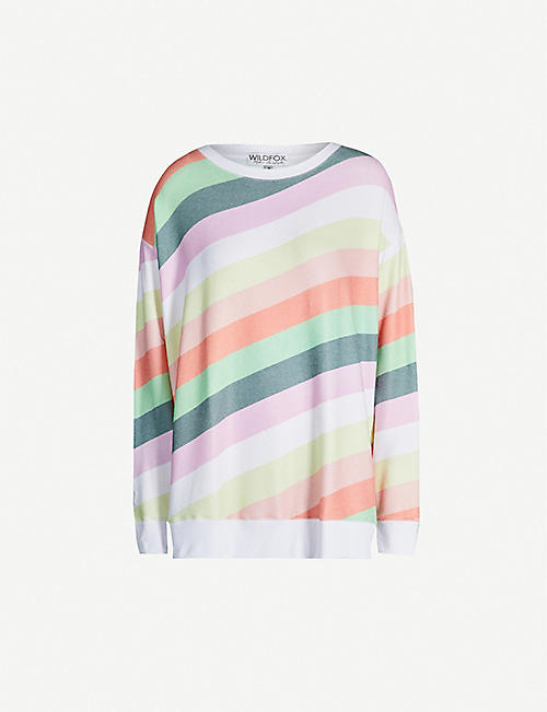 2ac1bd7890 WILDFOX Multi-coloured fleece sweatshirt