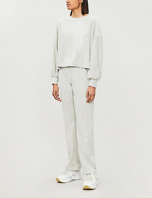 WILDFOX Emery tapered cotton-blend jogging bottoms