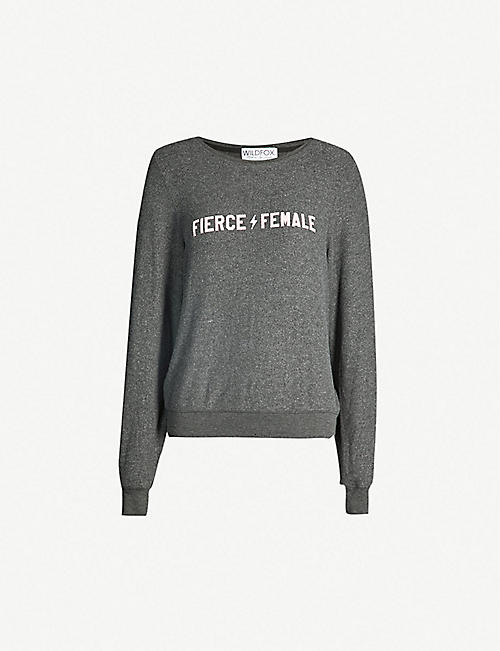9caaf9301b347 WILDFOX Fierce Female stretch-jersey sweatshirt