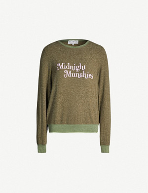 WILDFOX 'Midnight munchies' print fleece sweatshirt