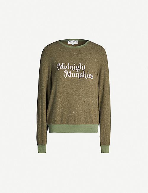 fdb663a79d WILDFOX 'Midnight munchies' print fleece sweatshirt