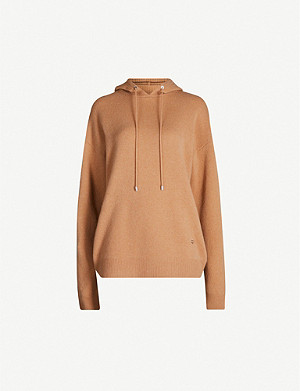 MARKUS LUPFER Immy embroidered wool and cashmere-blend hoody