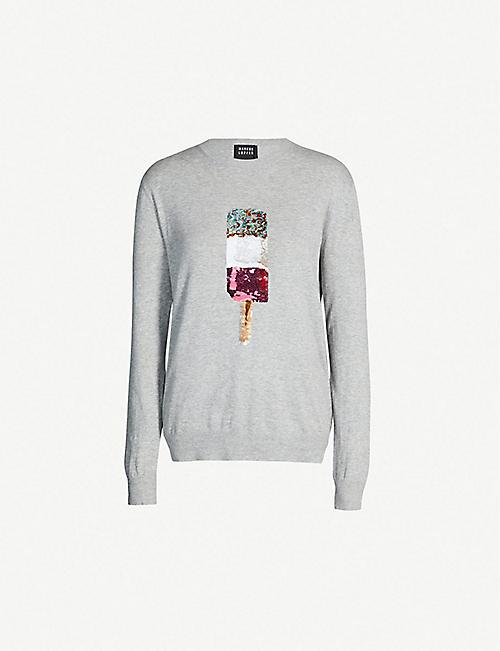 99f1ad39dbe4 MARKUS LUPFER Natalie popsicle sequin-embellished cotton-knit jumper