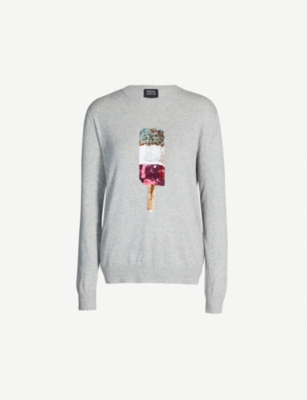 MARKUS LUPFER Natalie popsicle sequin-embellished cotton-knit jumper