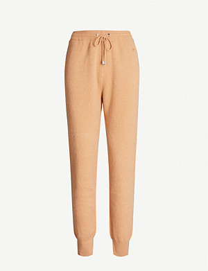MARKUS LUPFER Classic mid-rise tapered wool and cashmere-blend jogging bottoms