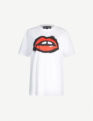 MARKUS LUPFER Alex spray paint lip-print cotton-jersey T-shirt