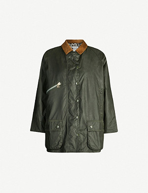 BARBOUR Barbour x Alexa Chung Edith waxed-cotton jacket