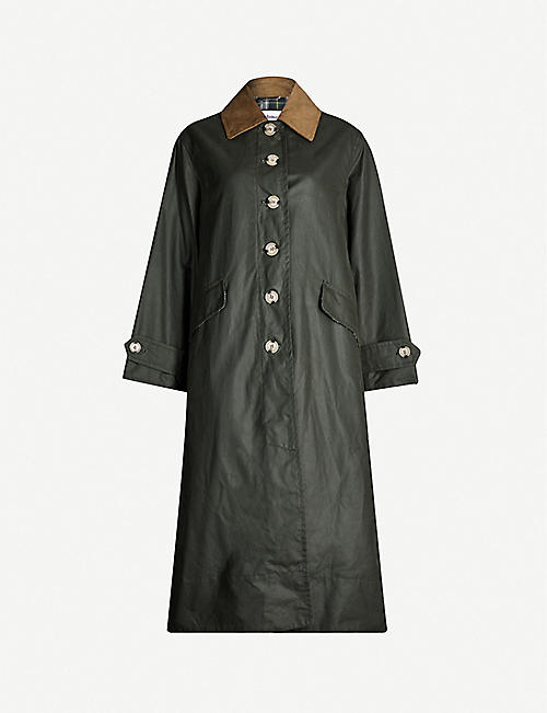 BARBOUR Barbour x Alexa Chung Maisie waxed-cotton maxi coat
