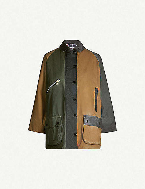 BARBOUR Barbour x Alexa Chung Patch waxed-cotton jacket